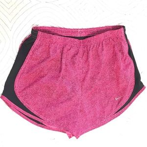 Nike Dri Fit Shorts Pink and Black with liner M